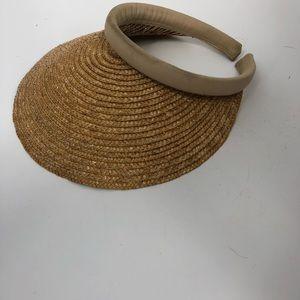 Vintage straw visor
